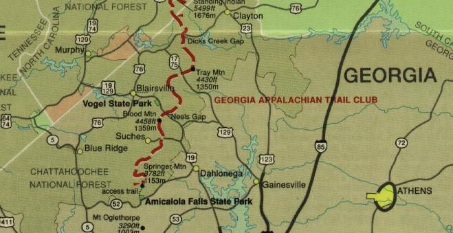 Appalachian Trail In Georgia Map.Appalachian Trail 2sparrows Page 2
